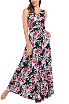 Comila Women's Summer V Neck Floral Maxi Dress Casual Long Dresses with Pockets Plus Size Maxi Dresses, Petite Dresses, Long Dresses, Summer Dresses, Floral Maxi Dress, Dress Up, Affordable Dresses, Dress Casual, Pockets