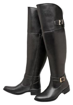 Bota Mega Boots Over The Knee Preto - Marca Mega Boots