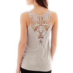 i jeans by Buffalo Crochet-Back Tank Top  found at @JCPenney