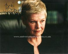 Signed photo of Judi Dench Available on the website http://www.universalautographs.co.uk/judi-dench-120-p.asp