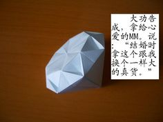 finally found this diamond origami instructions :D  as seen on etsy by lulluslittleshop  :D diy