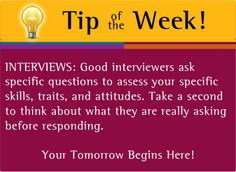 Tip of the Week, Interviews, NMSU Career Services