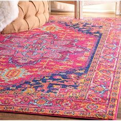 You'll love the Christophe Blooming Pink/Orange Area Rug at Wayfair - Great Deals on all Rugs products with Free Shipping on most stuff, even the big stuff.