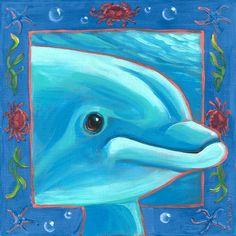 Underwater Dolphin by Oopsy daisy #sweetretreatkids #dolphinwallart #dolphinprint #underwaterart