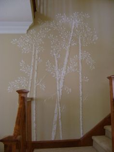 For bedroom and my son and future guest room http://www.victorialarsen.com/Plaster%20Stencils/Gloria_Uhler_Aspen_Tree_Stencil.jpg