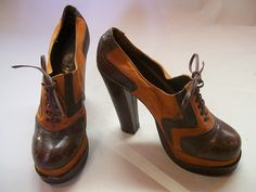 1970's platform shoes from Dorothea's Closet Vintage.