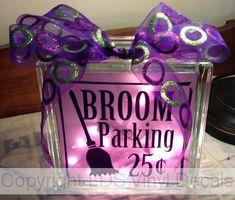 BROOM Parking 25 cents  Halloween Vinyl by LDSVinylDecals on Etsy, $5.00
