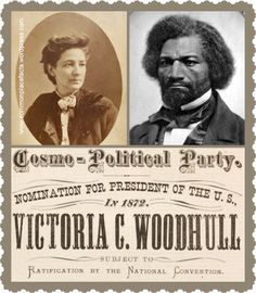 frederick douglass and Victoria Woodhull - Google Search