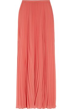 Halston Heritage Accordion-pleated Chiffon Maxi Skirt