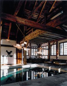 Pool Barn! I've never really given much thought to barns in general, but this is a cool idea.