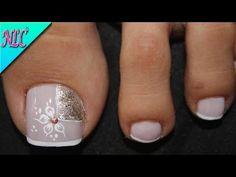 Toe Nail Designs, Simple Nail Designs, Mani Pedi, Pedicure, Purple And Pink Nails, Toe Nails, Pretty Nails, Nail Art, Beauty