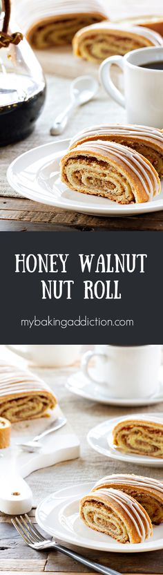 Honey Nut Rolls are filled with ground walnuts and sweet honey. They're so delicious and sure to become a new favorite!