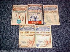 World War II era Comiskey Park Chicago WHite Sox Score Card Lot of (5) 1941-1945 #ChicagoWhiteSox