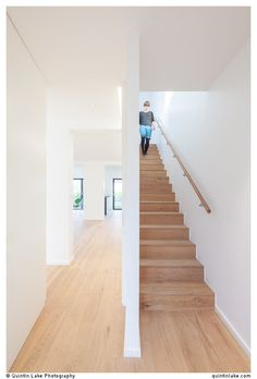 Belgrave Gardens Residence by Krause Architects Architectural Photography, Interior Photography, 1930s Semi Detached House, Interior Stairs, Staircase Design, My Happy Place, Hygge, Architects, Basement