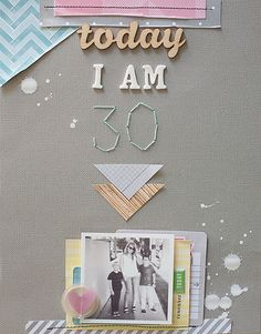 Lovely inspiration from Amy Tangerine Yes, Please Collection. #yesplease #americancrafts #diy