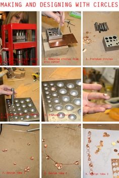Designing with metal circles. Vanetta Seecharran's Blog. (School of Jewellery Design)