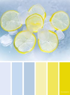 Blue and lemon color scheme ,color palette - Looking for color inspiration? At fab mood you will find 1000s of beautiful color palette, color palette inspired by nature,landscape ,food ,season