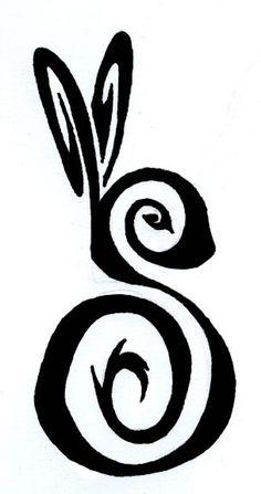 Rabbit tattoo for wrist