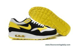 e0728bdc3195 Shop Mens Nike Air Max 1 White Varsity Maize Black Shoes New 2013 Sneakers