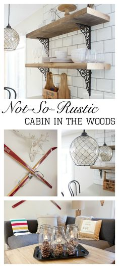 If you want to give your home a cozy feel while still staying chic, check out this house tour for a not-so-rustic cabin in the woods. From charmingly simple decorations to unique shelving inspiration, this decor has it all!