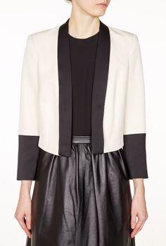 Jeeval Monochrome Contrast Cropped Jacket by By Malene Birge