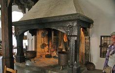 Picture of fireplace inside Marksburg Castle, Germany