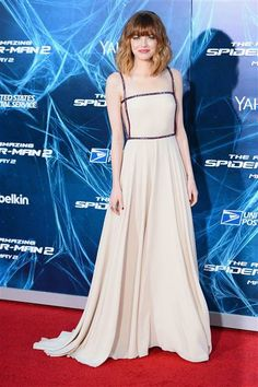 """Emma Stone arrives at the premiere of """"The Amazing Spider-Man 2"""" held at the Ziegfeld Theater in New York on April 24, 2014."""