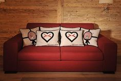 MOUNTAIN DELUXE_Couch_red_4085_print Couch, Throw Pillows, Bed, Projects, Furniture, Mountain, Home Decor, Things To Do, Photo Illustration