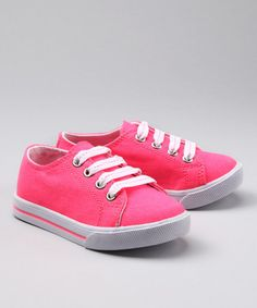 Take a look at this Neon Pink Melody Sneaker by Blow-Out on #zulily today! #fall