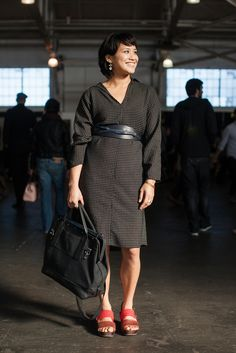 Name: Megan Bre Camp  Gig: Chef and Chocolatier  Hood: Oakland  What She's Wearing: Rosa Mosa shoes, Yeohlee dress, Jazemine Shokrian belt, and Wood &amp Faulle bag.
