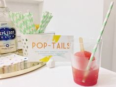 Strawberry Lemonade Poptails at Sugar & Cloth's Launch Party!