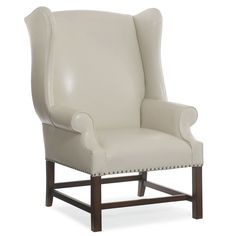 Bernhardt, Wentworth Chair in ivory leather