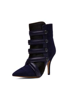Isabel Marant Tacy Pony Booties in Midnight