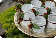 #CRAFTS CHRISTMAS DIY christmas candle holders by laverne
