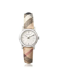 Burberry Silver Dial Check Fabric Strap Ladies Watch BU9222 * Be sure to check out this awesome product.