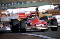 Circuito del Jarama,  Madrid. Gran Premio de España de F-1 , 1970 - Jochen Rindt (Lotus 72)