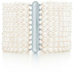Ziegfeld Collection 10-row Pearl Bracelet (5.370 BRL) ❤ liked on Polyvore featuring jewelry, bracelets, accessories, pearls, pulseras, pearl jewelry, pearl bangles, tiffany co jewelry, tiffany co jewellery and pearl jewellery