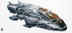 ArtStation - Spaceship Sketch, Yuan Cui