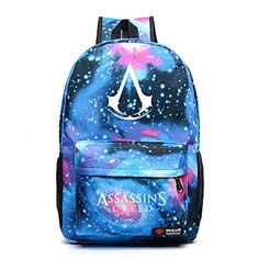 befd8c9e38f3 Amazon.com  Assassin s Creed Backpack Zipper Galaxy School Book Bag for  Teens Boys  Computers   Accessories