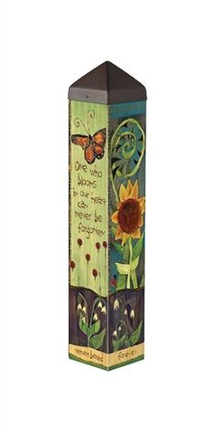 Art Poles are an impactful way to bring beautiful artwork to any landscape. Ultra-durable for years of enjoyment. No digging required. All hardware included. Made in USA. Garden Crafts, Garden Projects, Garden Ideas, Garden Inspiration, Wood Projects, Peace Pole, Garden Poles, Atrium Garden, Pole Art