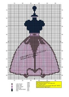 0 point de croix mannequin de couture avec jupe transparente - cross stitch dress form with transparent skirt Stitches Wow, Cat Cross Stitches, Counted Cross Stitch Patterns, Cross Stitching, Cross Stitch Embroidery, Cross Stitch Boards, Cross Stitch Love, Beaded Hat Bands, Cross Stitch Geometric