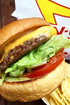 The queues started at for this one-day only pop-up of In-N-Out Burger in Surry Hills In & Out, Surry Hills, Good Burger, Burgers, Hamburger, Fries, Food And Drink, Restaurant, Pop