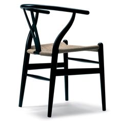 "Carl Hansen & Son CH24 Wishbone Chair Black | Hans Wegner 1949 | 29.5"" h 