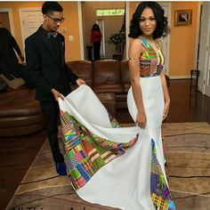 This woman, whose kente dress featured a mesmerizing patchwork of fabrics. 18 Fierce AF African Prom Dresses That'll Give You Life African Wedding Attire, African Attire, African Wear, African Dress, African Weddings, African Traditional Wedding, Traditional Wedding Dresses, African Prom Dresses, African Fashion Dresses