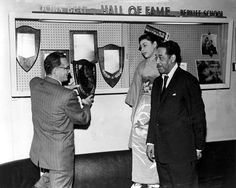 Larry Berk, Toshiko Akiyoshi, and Duke Ellington at the Downbeat Hall of Fame.  The Stan Getz Library houses the photo archives of the Office of Public Information, Communications office, and the Alma Berk Photograph Collection.