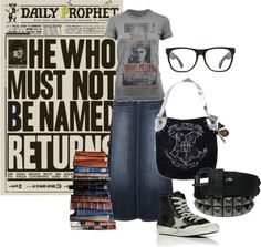 """""""HP Fangirl 002"""" by hollie29 ❤ liked on Polyvore"""