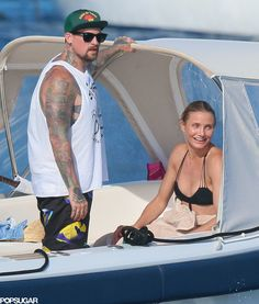 How cute are Cameron Diaz and Benji Madden on vacation?