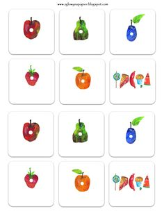 The Very Hungry Caterpillar ⋆ Head Full of Ideas Toddler Crafts, Preschool Crafts, Preschool Ideas, Kids Painting Projects, Hungry Caterpillar Craft, Food Themes, Party Themes, Montessori Toddler, Baby Time
