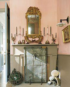 Ruth Burts Interiors: corals + salmons: pastel-to-medium..Benjamin Moore pale pink