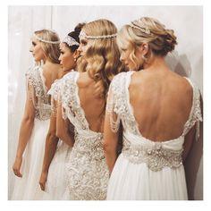 Backless wedding dresses   #wedding #simplistic #chic